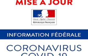Objet : Information fédérale n°22 – MAJ 13/05/2021